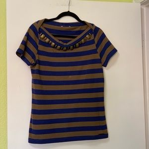 Burberry Brit striped boat neck t-shirt